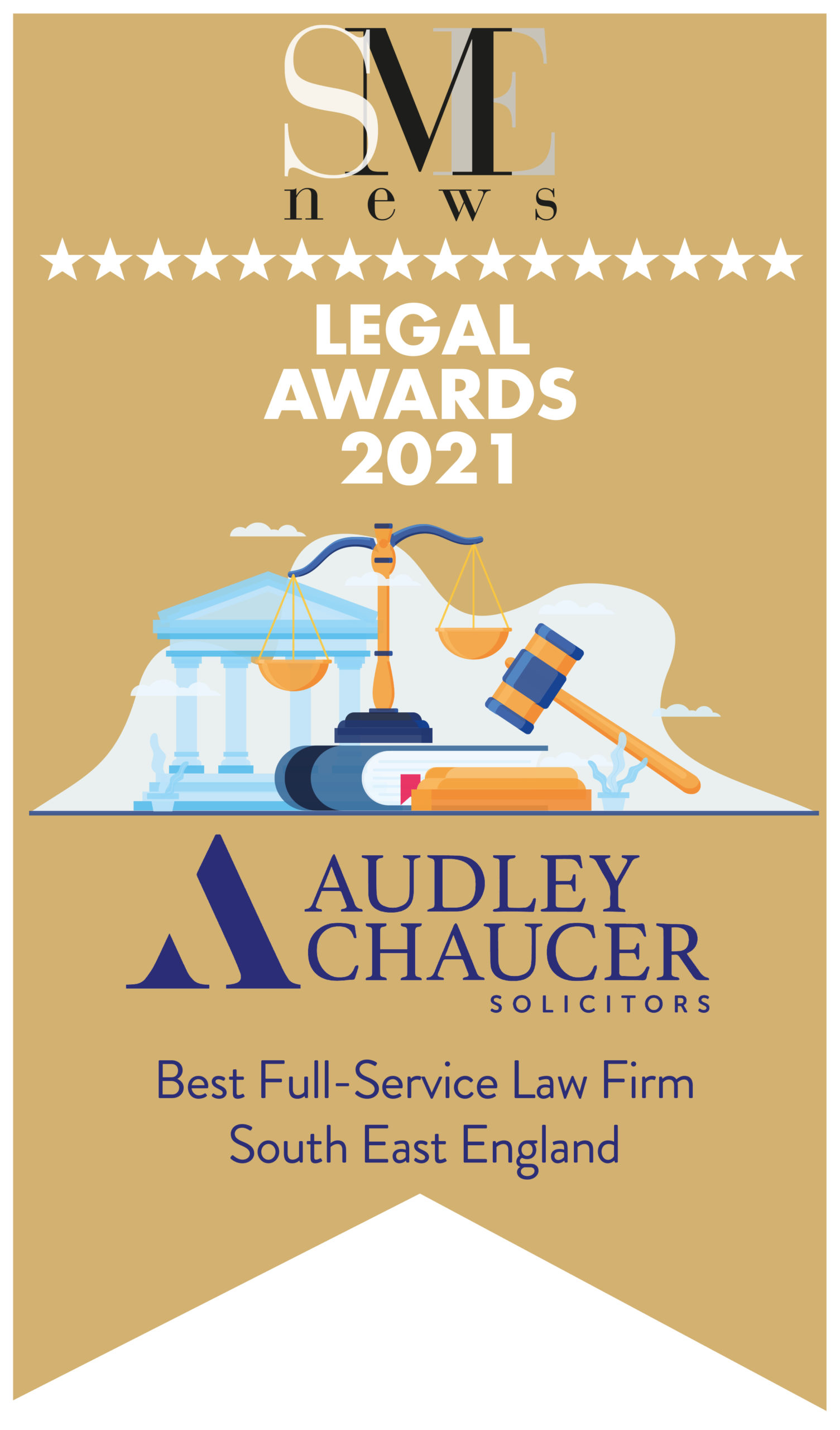 Audley Chaucer awarded Best Full-Service Law Firm in South East England